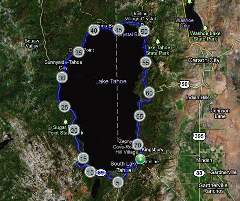 south lake tahoe elevation map Elevation Map We Like To Bike