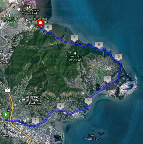 china camp state park map Trail China Camp San Rafael To San Pablo Bay We Like To Bike china camp state park map