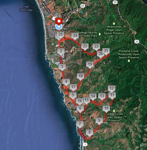 Map - Halfmoon Bay Backroads